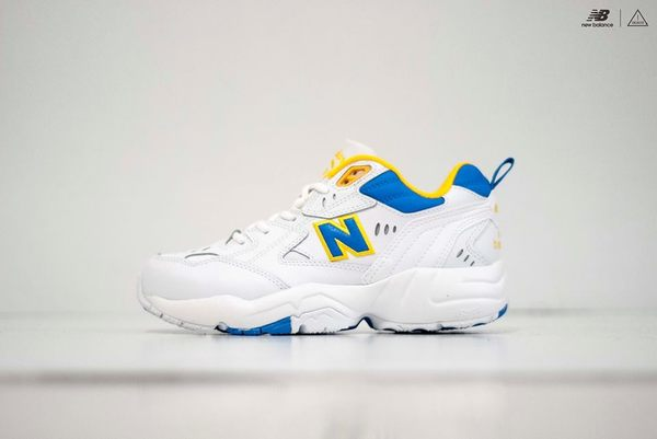 ISNEAKERS New Balance 608 NB 黃藍 復古 老爹鞋 韓國 IU 代言款