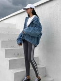 牛仔外套 港風牛仔外套女春秋裝好康新品正韓學生潮bf原宿寬鬆迷你夾克
