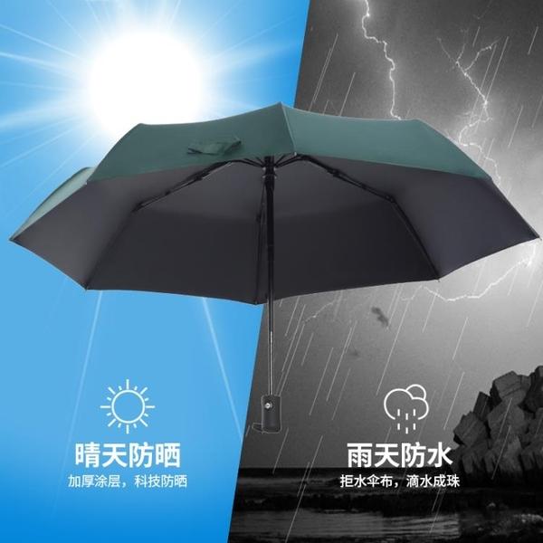 雨傘s全自動大號女摺疊晴雨兩用防曬防紫外線小巧便攜遮陽太陽傘 創意空間