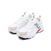 FILA BEATS TRACER 女款白色復古運動慢跑鞋-NO.5J526U162