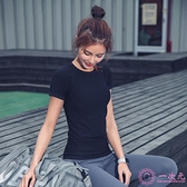 排汗衣女  速干衣女短袖緊身網紅運動t恤跑步性感健身服上衣夏季瑜伽服半袖