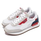 【海外限定】Puma 休閒鞋 Future Rider Stream On 白 深藍 紅 復古 男女鞋【ACS】 37153002