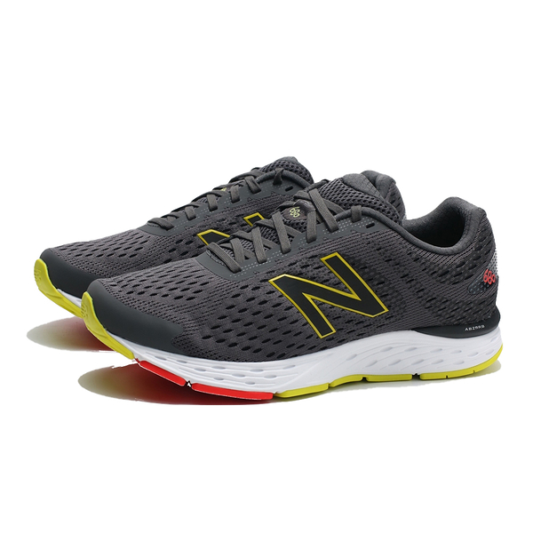 NEW BALANCE NB 680 灰白 網布 螢光綠LOGO 透氣 運動 慢跑鞋 男 (布魯克林) M680CP6