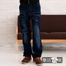 牛仔褲★立體字母口袋刷紋中直筒牛仔褲● ...