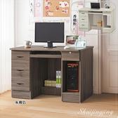 【水晶晶家具/傢俱首選】CX0778-1 典雅灰橡4尺全木心板四抽電腦書桌~~雙色可選