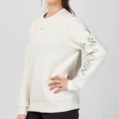 Nike Sportswear Nike Pro Warm 女子 白色 刷毛 保暖 太空棉長袖 大學T BV4055-030
