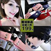 克妹Ke-Mei【AT45971】LOVE復古字母愛心銀飾皮質頸鍊/大腿鍊