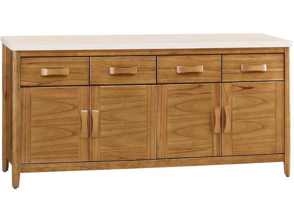櫥櫃 餐櫃 FB-321-2 愛莉絲柚木5.4尺碗櫃下座【大眾家居舘】
