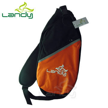 Landy 單肩背包 黑+ 橘 MJ0002