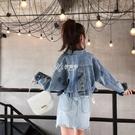牛仔外套女春秋季新款韓版復古港風學生寬鬆棉質短款顯瘦上衣夾克