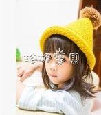 兒童冬天帽 韓版兒童帽子秋冬款女童圣誕帽寶寶毛線帽子冬天小孩護耳帽男童潮 珍妮寶貝