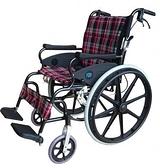 輪椅B款-24吋大輪折背-豪華型輪椅//安舒151