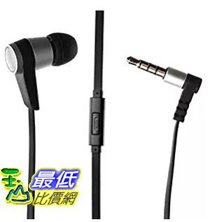 [美國直購] Single Earbud Stereo-to-Mono Headphone w/Mic (Black/Silver), Aluminum with Rubberized Ribbon Cable 耳機