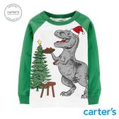 【美國 carter s】聖誕恐龍派對長袖上衣-台灣總代理