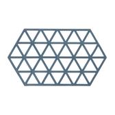 HOLA 北歐幾何三角長形橡膠鍋墊-藍色