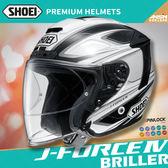 [中壢安信]日本 SHOEI J-FORCE IV 彩繪BRILLER TC-6 白黑 半罩 安全帽 3/4 四分之三