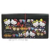 〔小禮堂〕Hello Kitty 塑膠六層風琴夾《黑mimmy 》分類夾資料夾檔案夾4713791 96349
