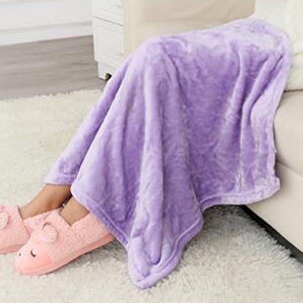 【BlueCat】純色保暖法蘭絨毛毯 懶人毯 寵物毯 嬰兒蓋毯 (70*100cm)