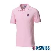 K-SWISS Vintage Polo短袖Polo衫-女-粉紅
