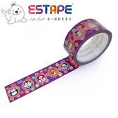 【ESTAPE】Squly 裝飾膠帶|創意變裝(18mm x 6M/手帳/裝飾)