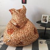 伊登 喵~ 貓咪造型懶骨頭座椅(豹紋花)