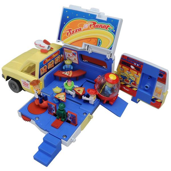 特價 迪士尼小汽車  披薩星球貨櫃收納車_DS86967