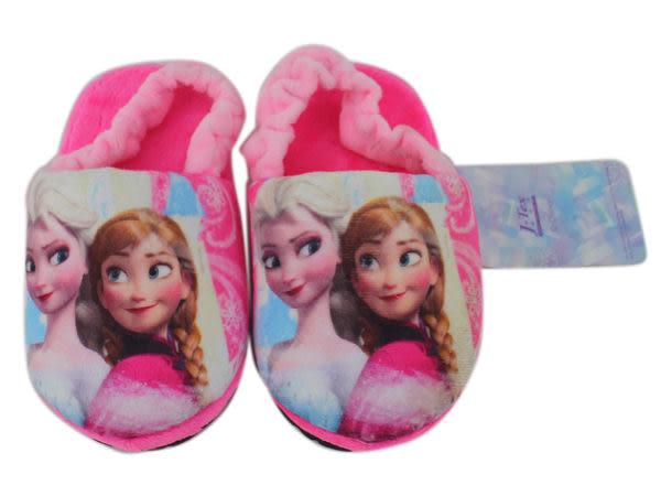 【卡漫城】冰雪奇緣 絨毛拖鞋 粉 ㊣版 艾莎 安娜 Frozen 兒童 伸縮帶 浴室 保暖拖鞋 室內鞋 16.5cm