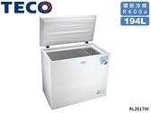 ↙0利率↙TECO東元 194公升 靜音省電 大容量雙效 臥式冷藏冷凍櫃 RL2017W【南霸天電器百貨】