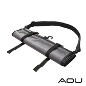 AOU YKK配件 台灣製 可斜揹 捲式衣物收納袋 衣物袋(灰)66-031D7