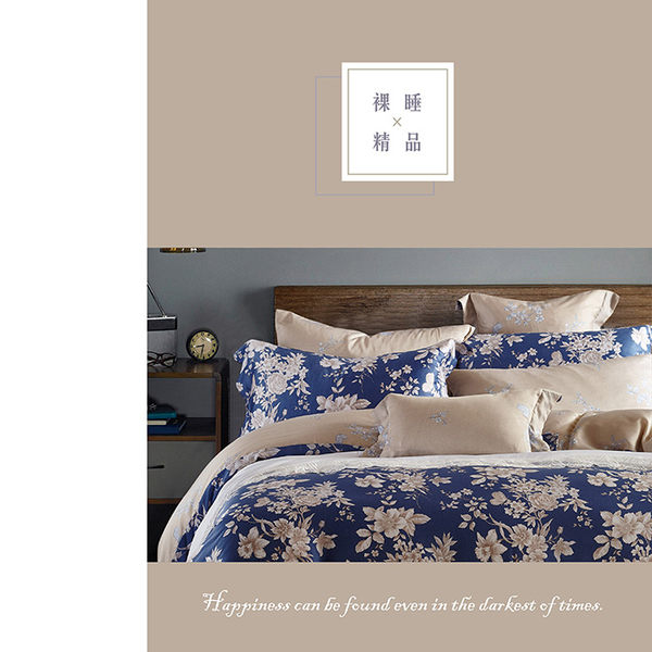 天絲床包兩用被四件式 雙人5x6.2尺 藍之夢(藍) 100%頂級天絲 萊賽爾 附正天絲吊牌 BEST寢飾
