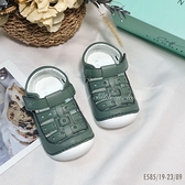 《7+1童鞋》CONNIFE 可妮妃 夏日 寶寶 防踢 涼鞋 E585 綠色