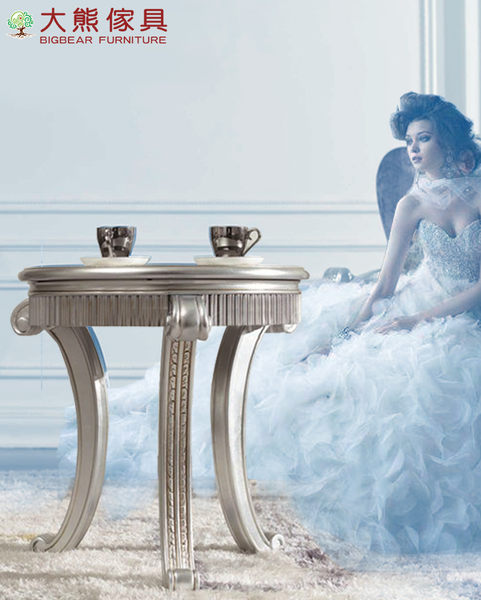 【大熊傢俱】雅致 新古典小圓桌 休閒桌 茶几 小邊几 圓几 電話几 花几 休閒組椅 另售餐椅