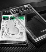 硬碟外接盒  硬碟外接盒type-c讀取2.5寸通用usb3.1Gen2外接透明保護殼筆記本  亞斯藍