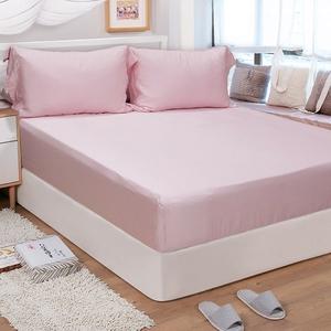 【FITNESS】60S天絲刺繡雙人加大三件式床包組-多色任選甜心粉6*6.2
