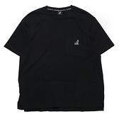 KANGOL 短袖 短T 黑 口袋 下襬拼接 袋鼠 棉 休閒 男女 (布魯克林) 6121100520