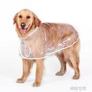 大狗雨衣薩摩耶哈士奇金毛大型犬幼犬狗狗透明防水雨披寵物衣服夏 【韓語空間】