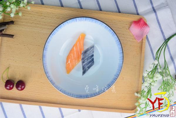【堯峰陶瓷】【日本美濃燒】彩虹十草 5.5吋井 圓缽/碗 線條紋