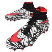 【五折特賣】Nike 足球鞋 Hypervenom Phantom II NJR FG 黑 白 紅 內馬爾 男鞋【PUMP306】 820117-061