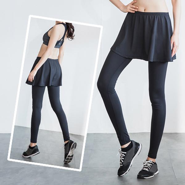 瘋搶699|LEAP 兩件式機能型運動緊身壓力褲裙S/M/L/XL《WUZ屋子》