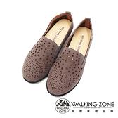 WALKING ZONE (女)圓頭星點樂福鞋 懶人鞋 女鞋 -灰(另有棕)