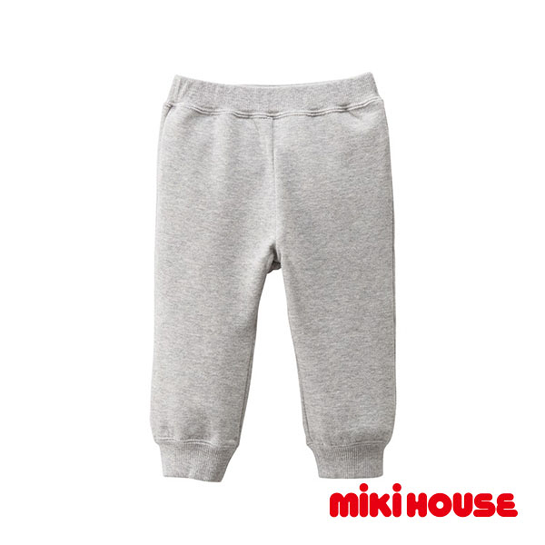 MIKI HOUSE Every day休閒保暖長褲(灰)
