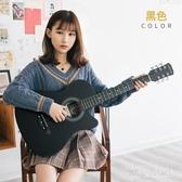 38寸民謠合板木吉他初學者男女學生練習樂器適合新手入門琴 GD805『黑色妹妹』