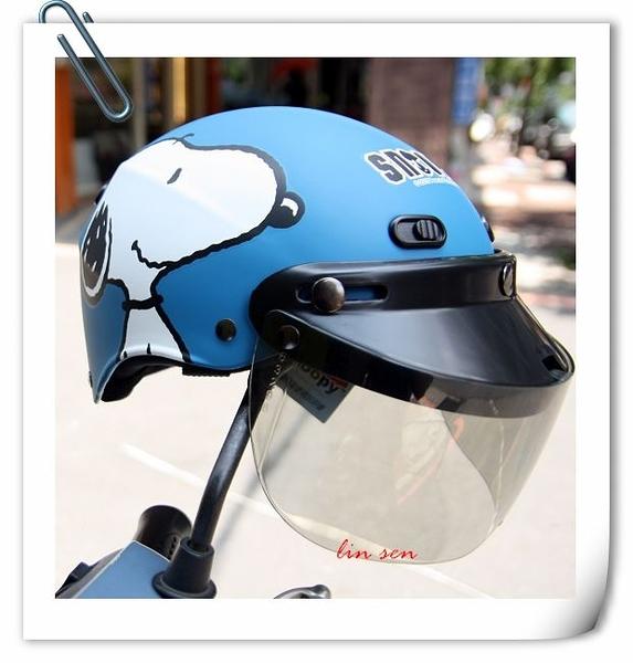 林森~雪帽,史奴比安全帽,K825,#3/消光藍,附抗UV-PC安全鏡片
