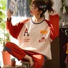 秋冬季純棉睡衣女長袖加肥加大碼200斤胖mm寬松可外穿家居服套裝全館免運