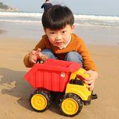寶寶沙灘玩具超大號工程車挖掘機挖土機翻斗卡車男孩兒童玩具套裝  小時光生活館
