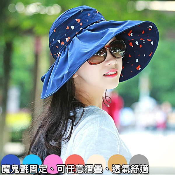 遮陽帽 女生夏天防曬帽女士涼帽防紫外線 可折疊沙灘太陽帽 半空頂 透氣 沙灘 海灘 防曬 露營