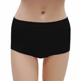 【LADY】舒柔貼身棉高腰平口褲(黑色)