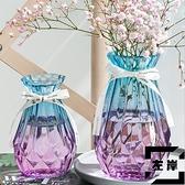 2個裝 花瓶北歐水培玻璃花瓶透明插花瓶擺件花器【左岸男裝】