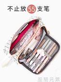 文具大容量帆布筆袋韓國簡約女生小清新可愛文具袋大學生創意鉛筆盒文具盒 至簡元素