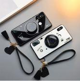 小米Mix2S 手機殼 玻璃保護套 短掛繩流蘇 全包防摔殼 簡約情侶相機 抖音支架 保護殼 小米Mix2